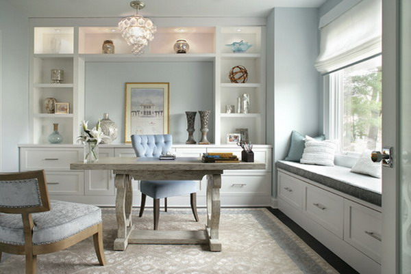 Beautiful-Look-of-Modern-White-Home-Office-Wall-Units-Design