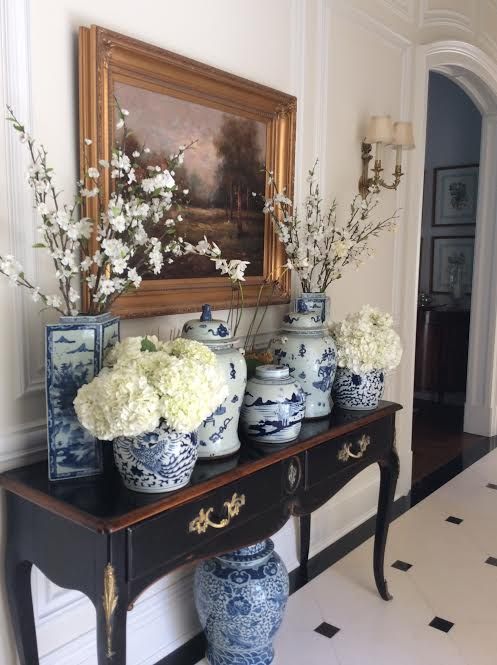 Pinterest pretties blue and white the enchanted home for Decorating with blue and white pottery