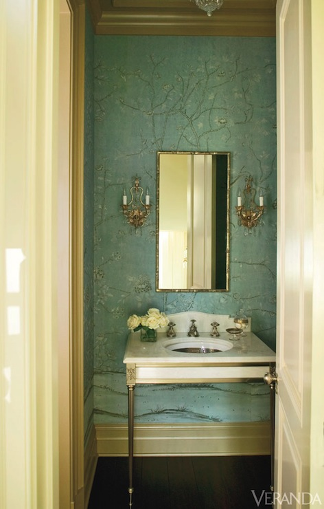 the puff on powder rooms - the enchanted home