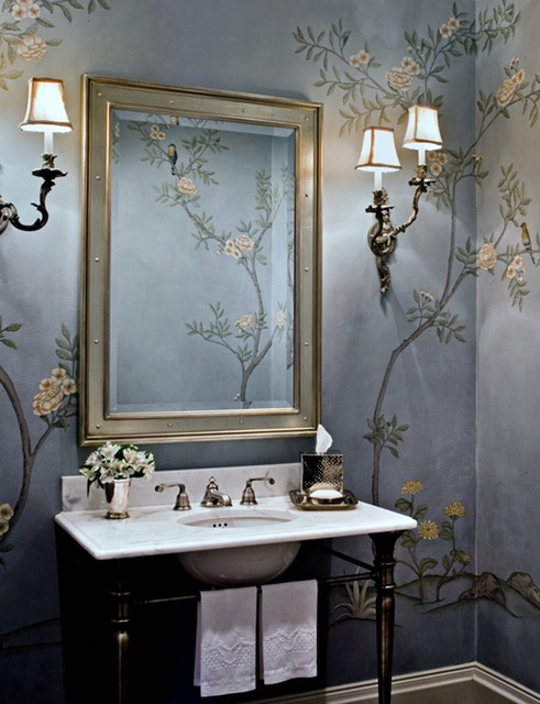 Such A Clically Beautiful Powder Room That Will Be As Gorgeous 20 Years From Now Rariden Schumacher Mio And Co