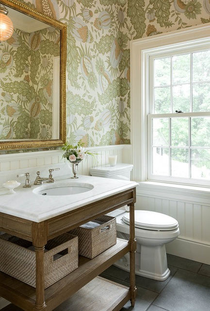 The puff on powder rooms the enchanted home - Very small powder room ideas ...