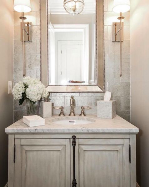 The puff on powder rooms the enchanted home for Gorgeous powder rooms