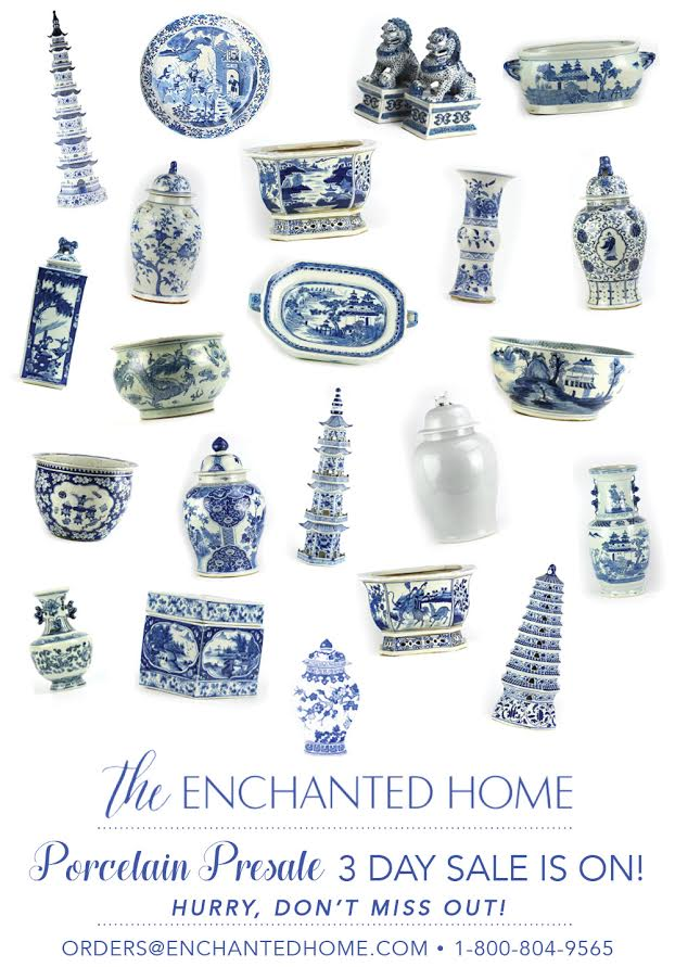 The one day porcelain arrival sale is on and a giveaway!