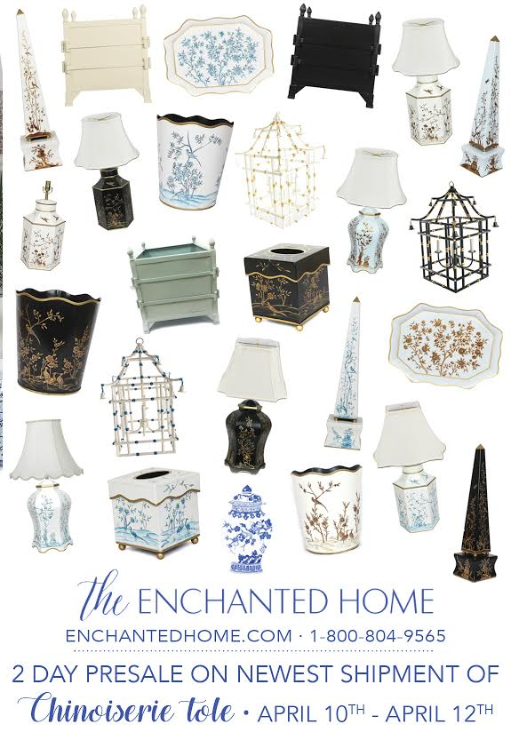 An amazing presale on the newest chinoiserie tole and a giveaway!