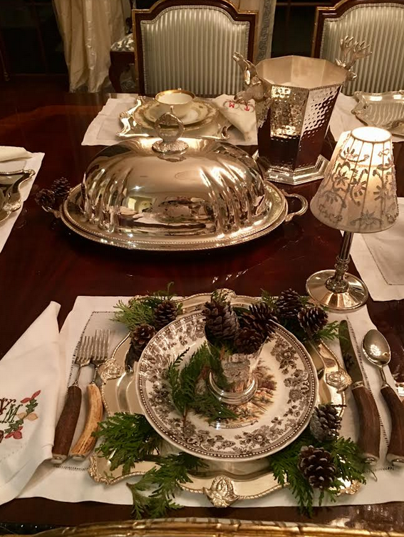 Setting a Thanksgiving table…..