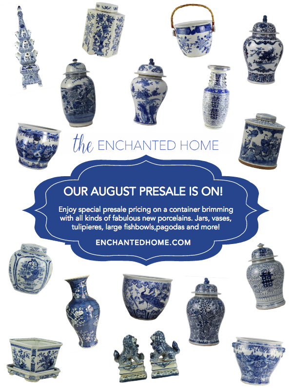 The August porcelain presale is on and a ginger jar giveaway!