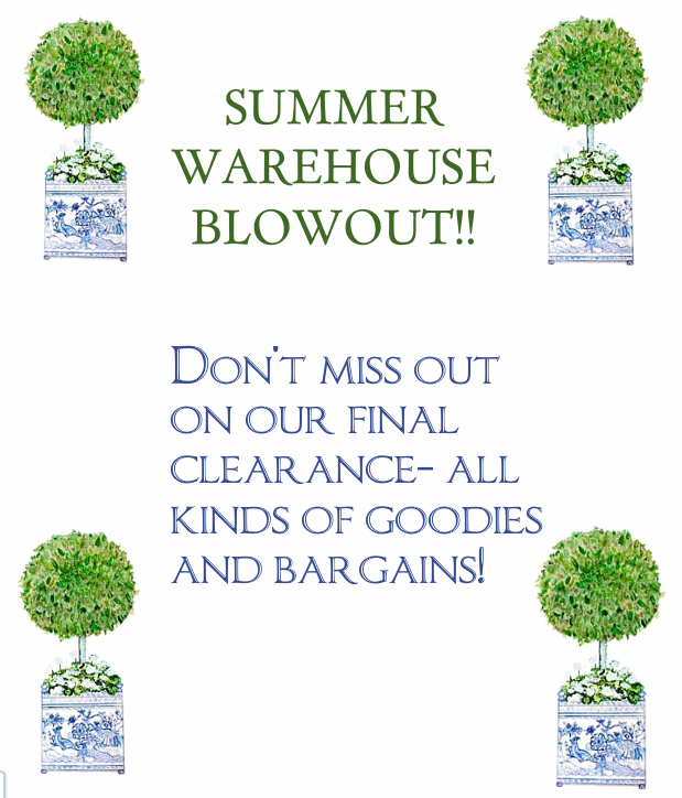 Warehouse blowout take 3!