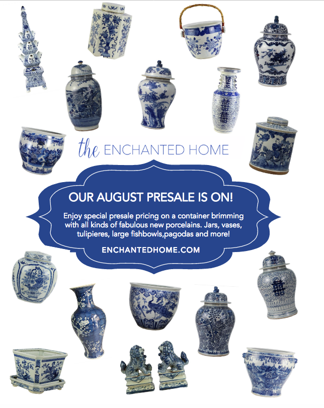 Our August porcelain arrival sale is on and a foo dog porcelain giveaway!!