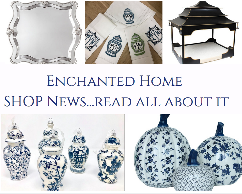 Enchanted Home shop news, a few polls and a giveaway!