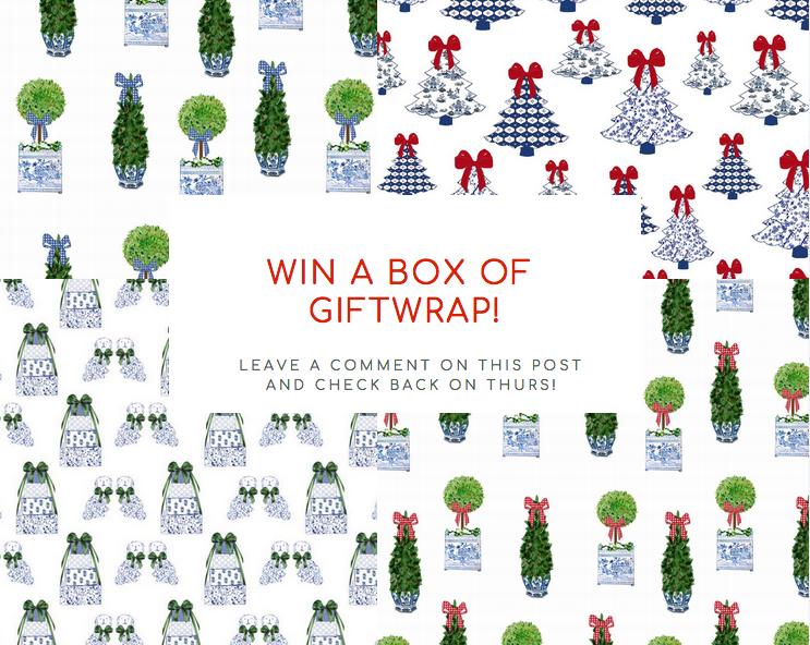 The much anticipiated 2018 holiday giftwrap sale is on plus a giveaway!!