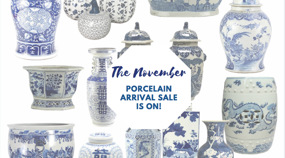 Our two day porcelain arrival sale is on and a giveaway!