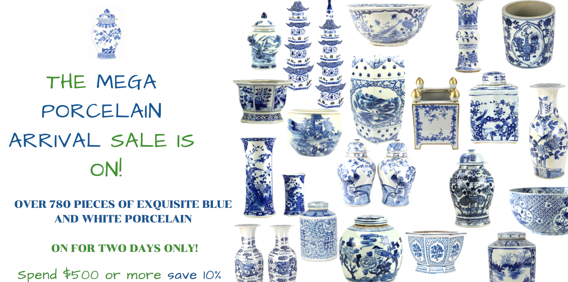 The mega January porcelain container arrival sale is officially on and a giveaway!