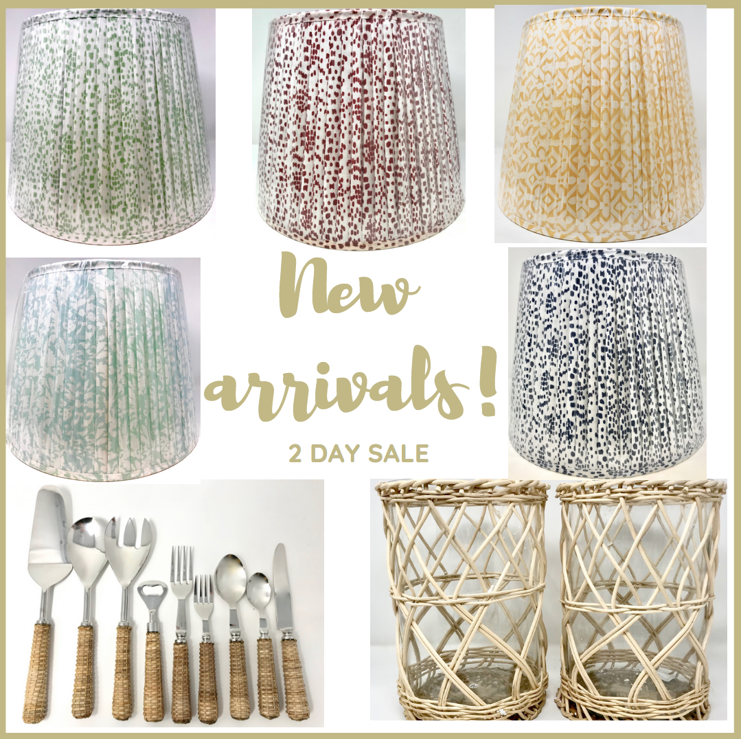 New arrivals sale and a basketweave giveaway!