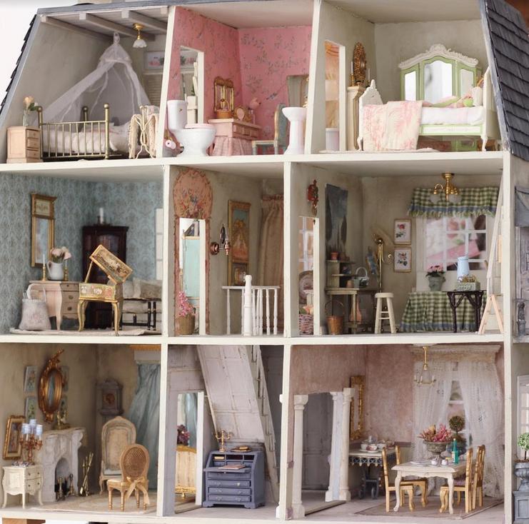 Mini Hand Painted Tray Dollhouse Decoration