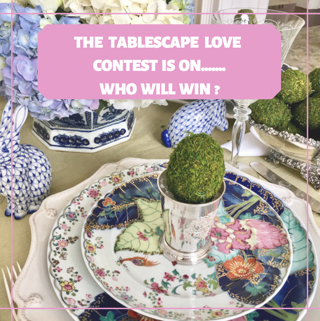 Our Tablescape Love contest round 1 is on!