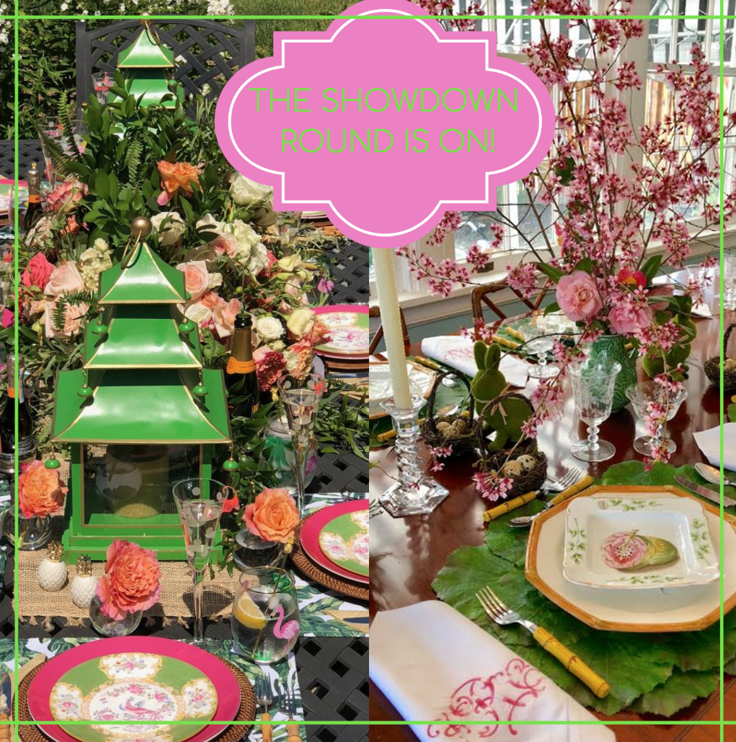 The showdown round is on for Tablescape Love!