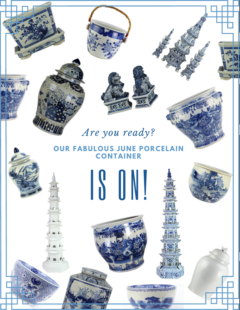 Our porcelain presale is on for our June container and a porcelain giveaway!