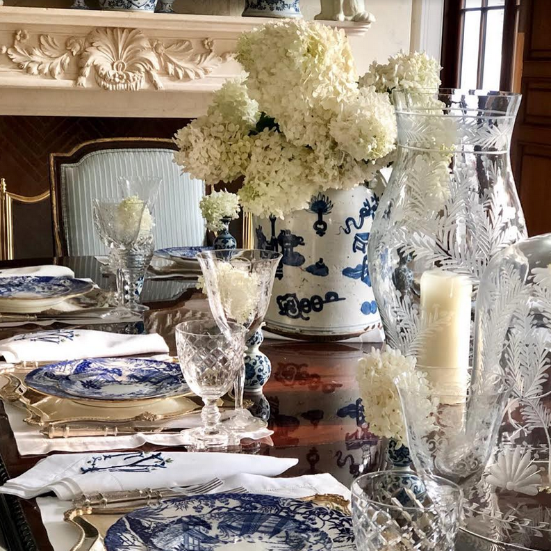 Setting a dinner party table…..