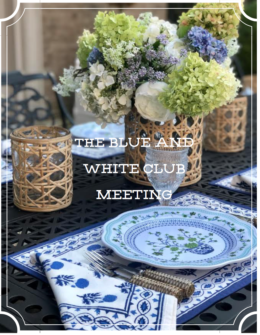 The blue and white club meeting is on and a special offer!