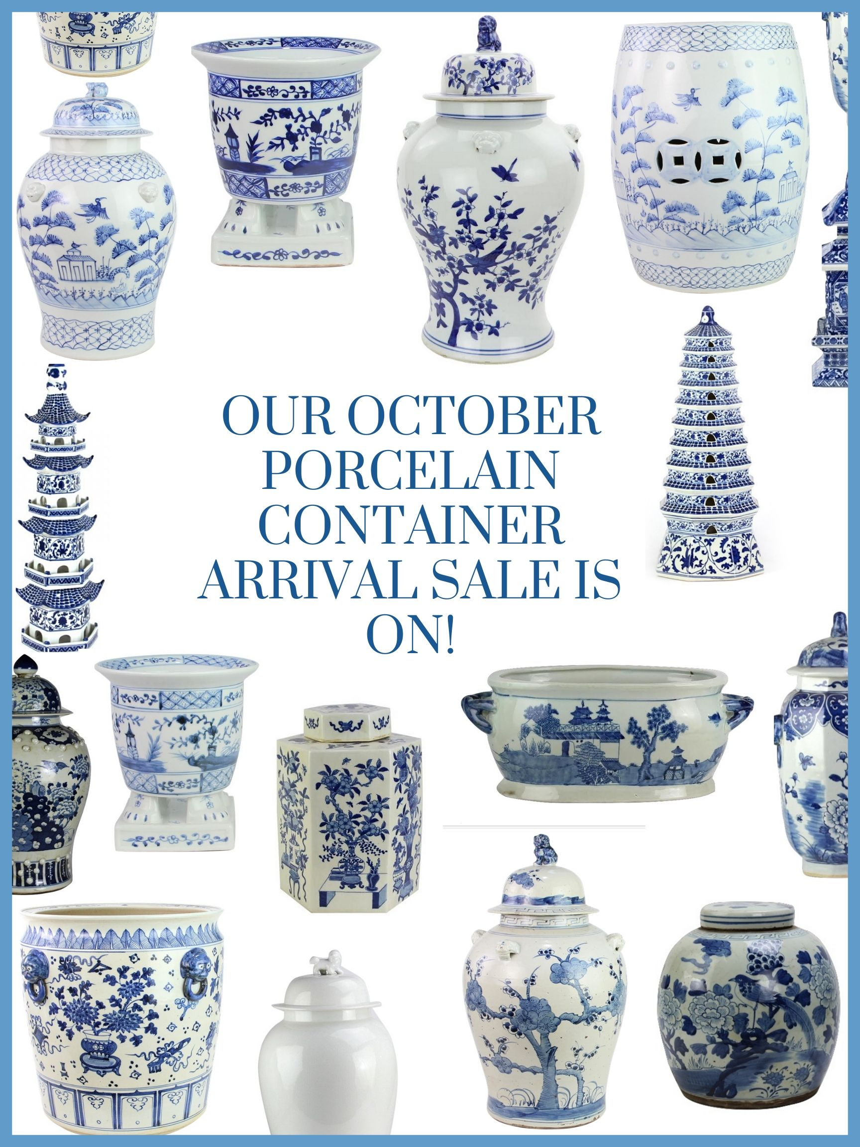 Our Oct. porcelain container arrival sale is on plus a giveaway!