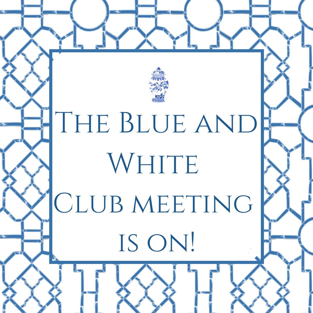 The blue and white club meeting is on!