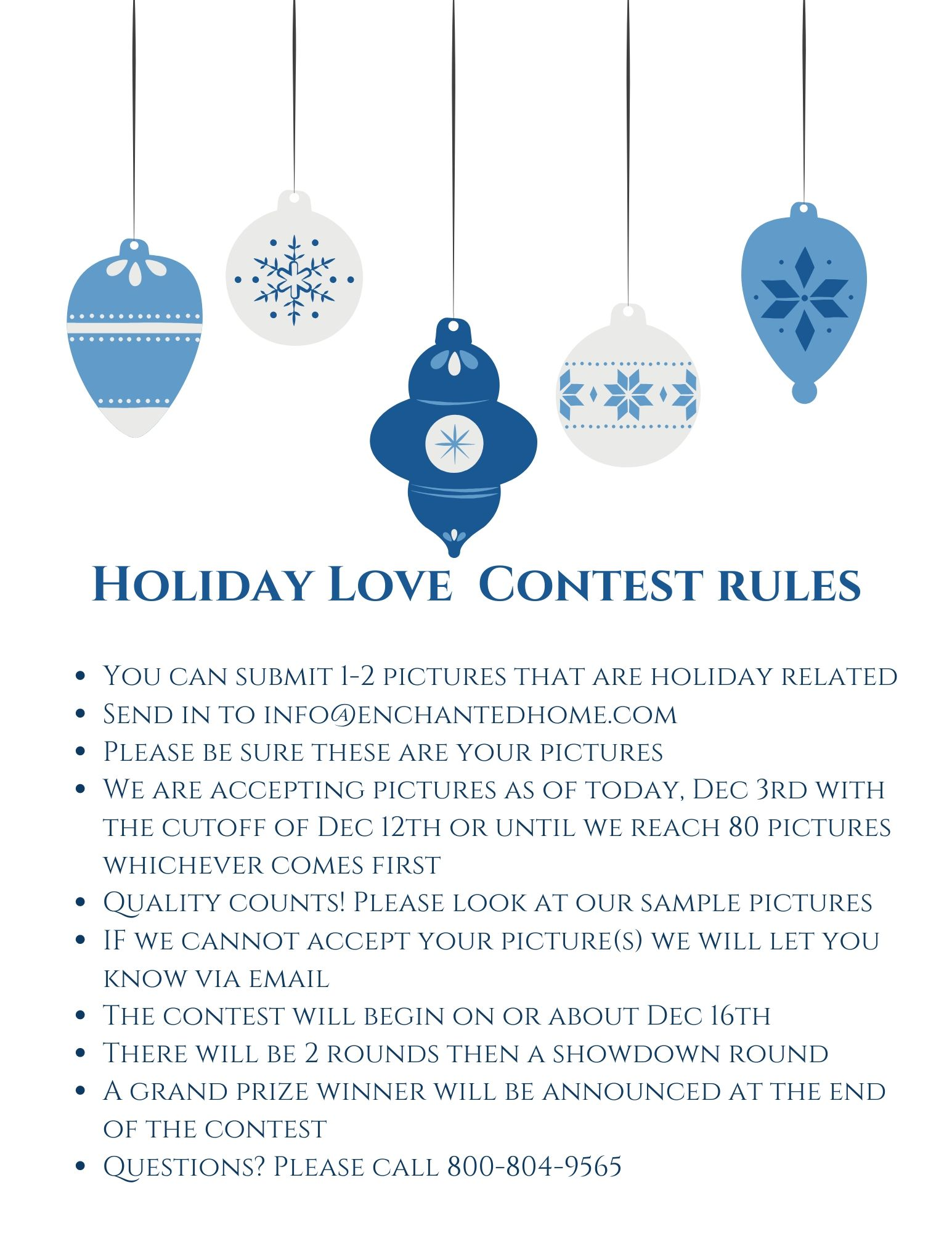 Announcing our 2019 Holiday Love contest! Now taking your entries…
