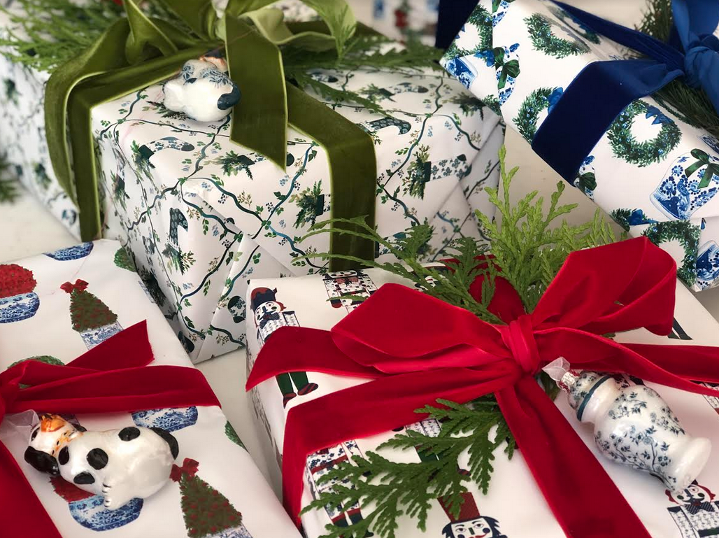 Birthday Holiday Wrapping Paper: Red Ginger Jars {Gift Wrap Christmas}
