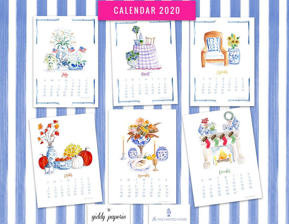 Reflections on 2019, our 2020 desktop calendar in collaboration with Giddy Paperie and a giveaway!