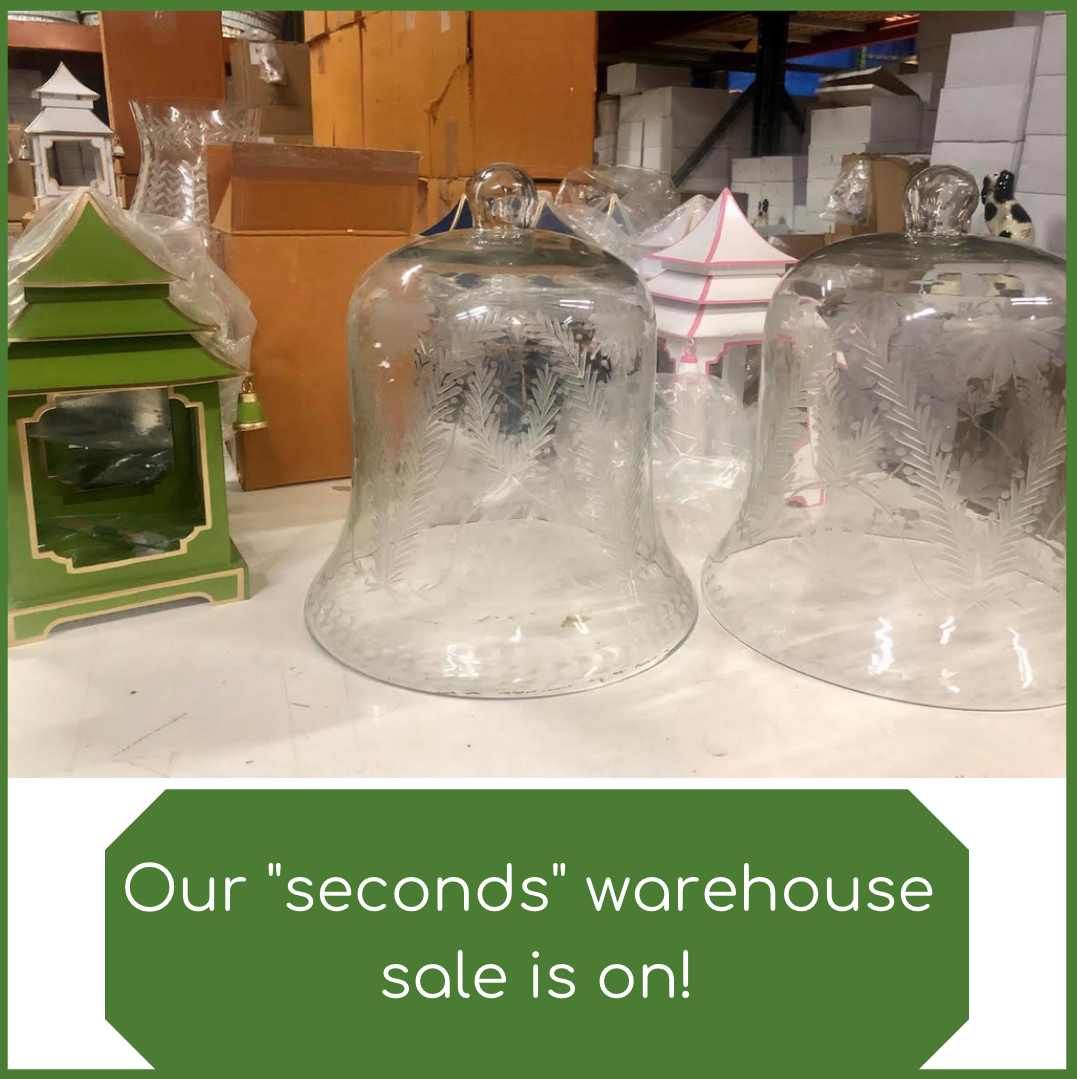 "A ""seconds"" warehouse blowout sale……..going, going gone!"