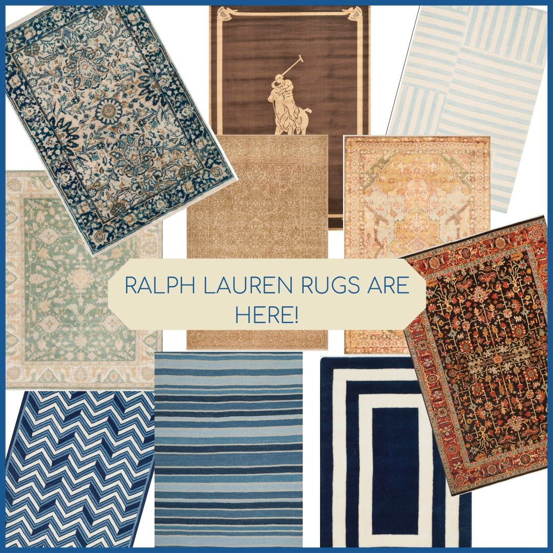 Say hello to Ralph Lauren rugs at The Enchanted Home!