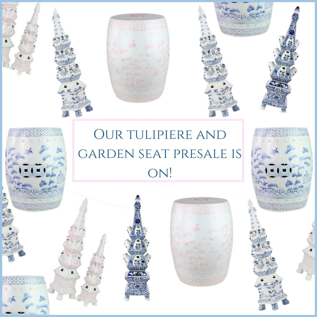 The  tulipieres and garden seats presale is on!