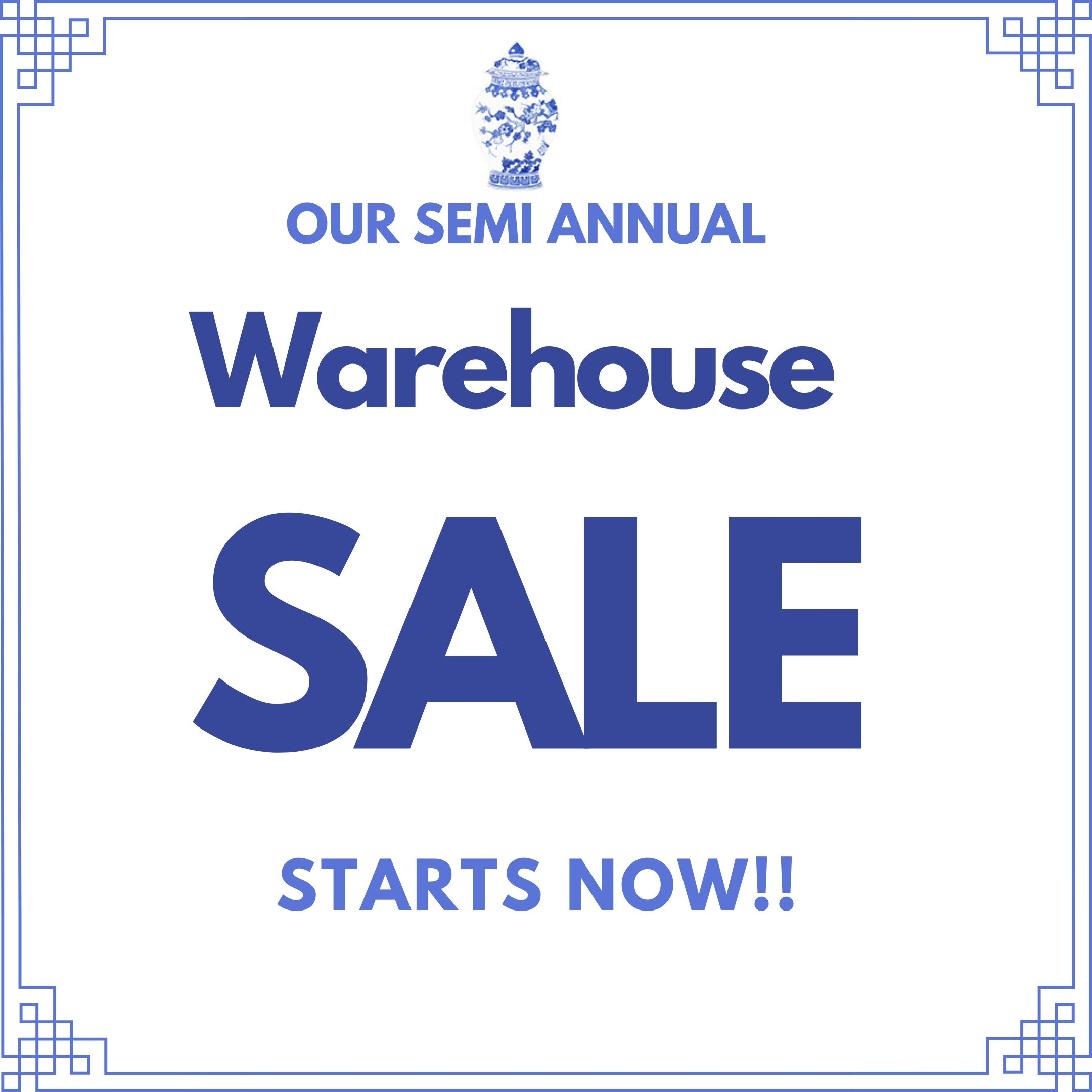 Our semi annual warehouse blow out sale is on!