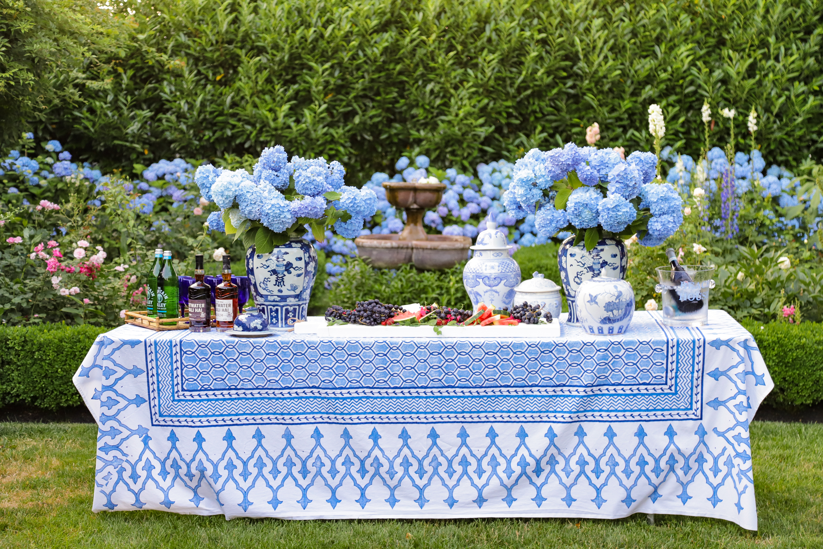 The most beautiful poolside spread with KD Hamptons!
