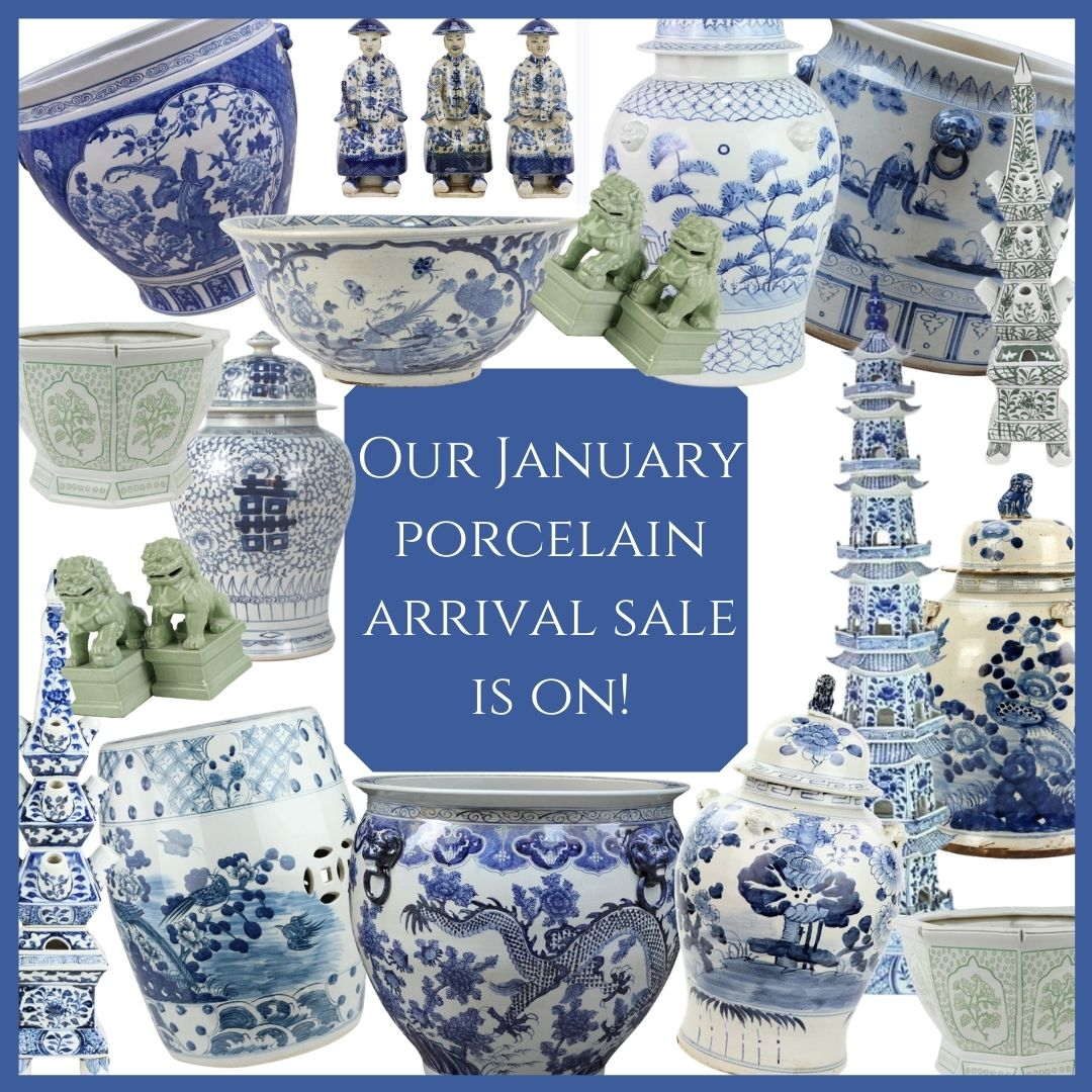 Our Jan porcelain arrival sale is on and a giveaway!