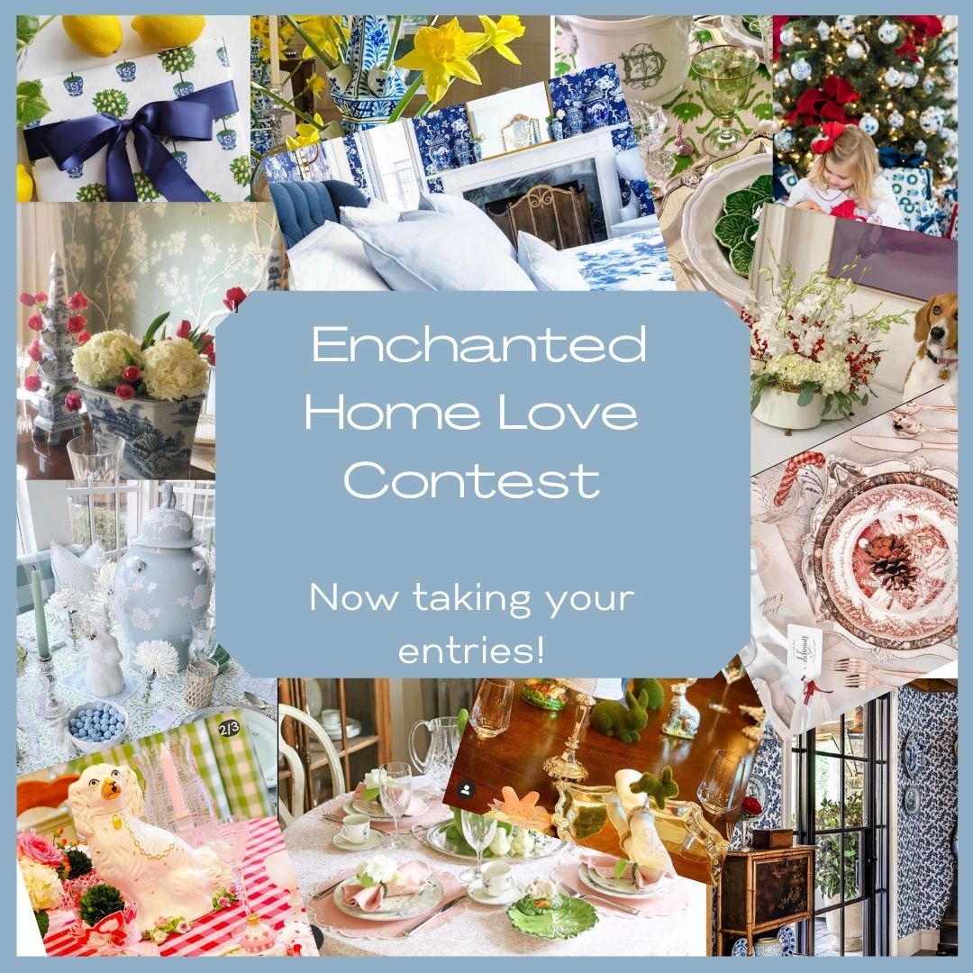 Now taking your entries for our new contest,  Enchanted Home Love