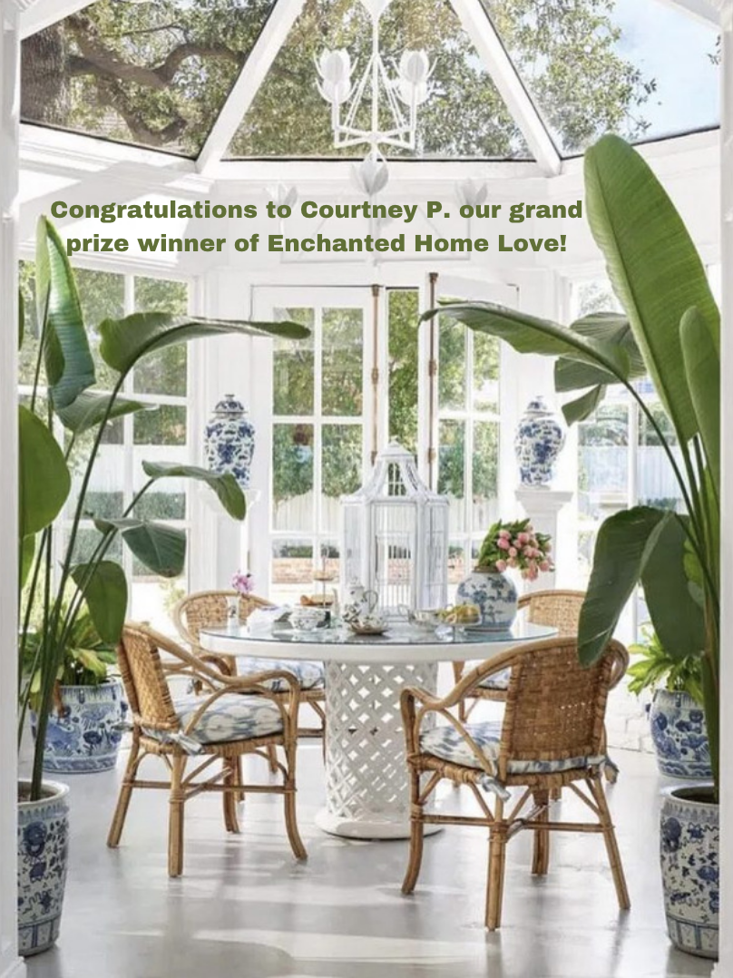 We have a winner of Enchanted Home Love!