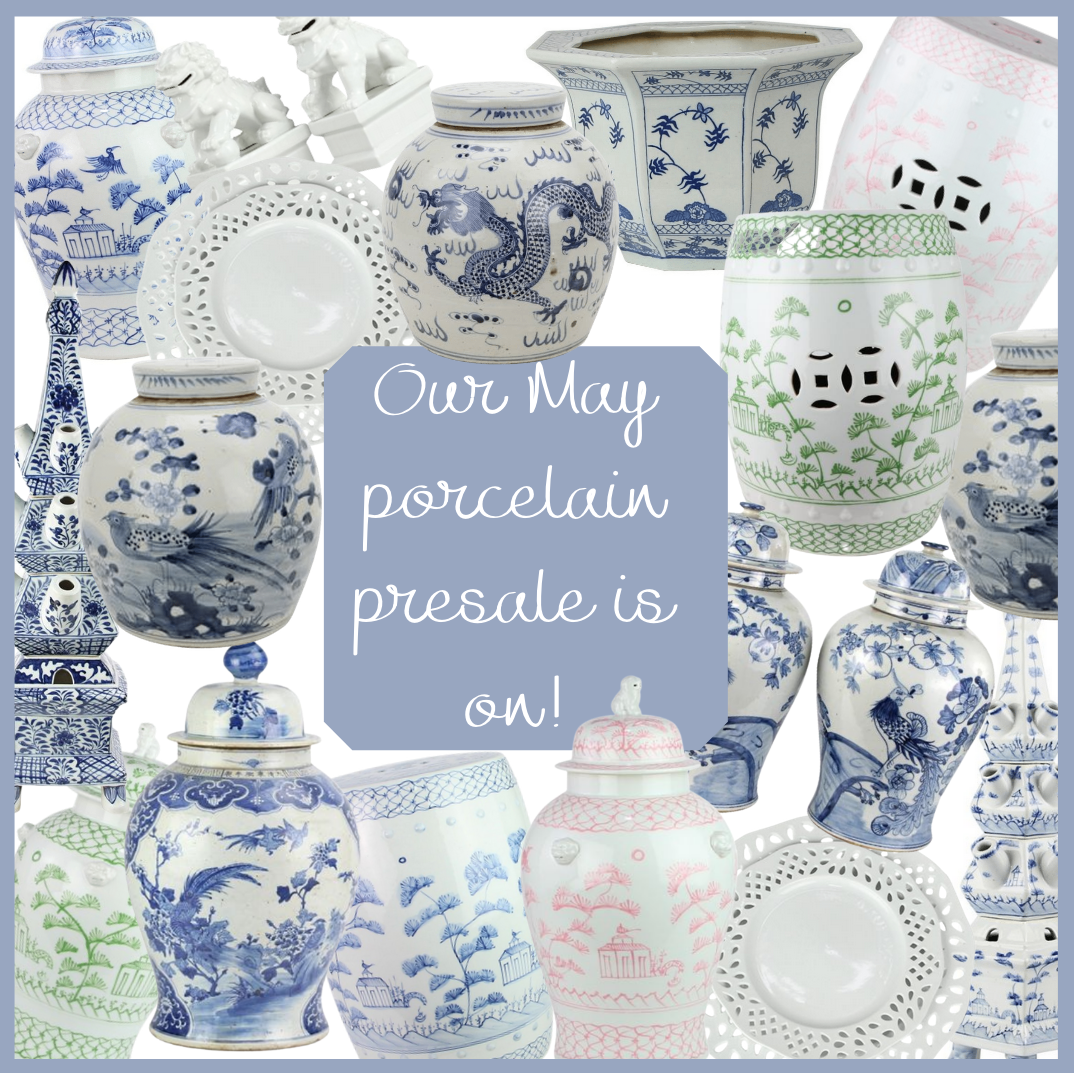 Our fabulous May porcelain presale is on!