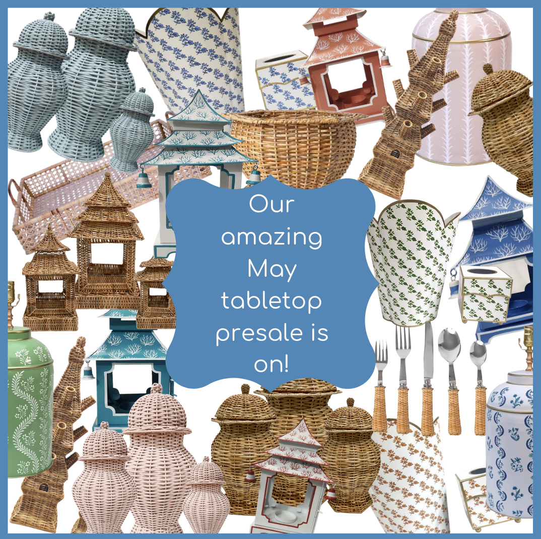 Our May tabletop sale is on and a fun giveaway!