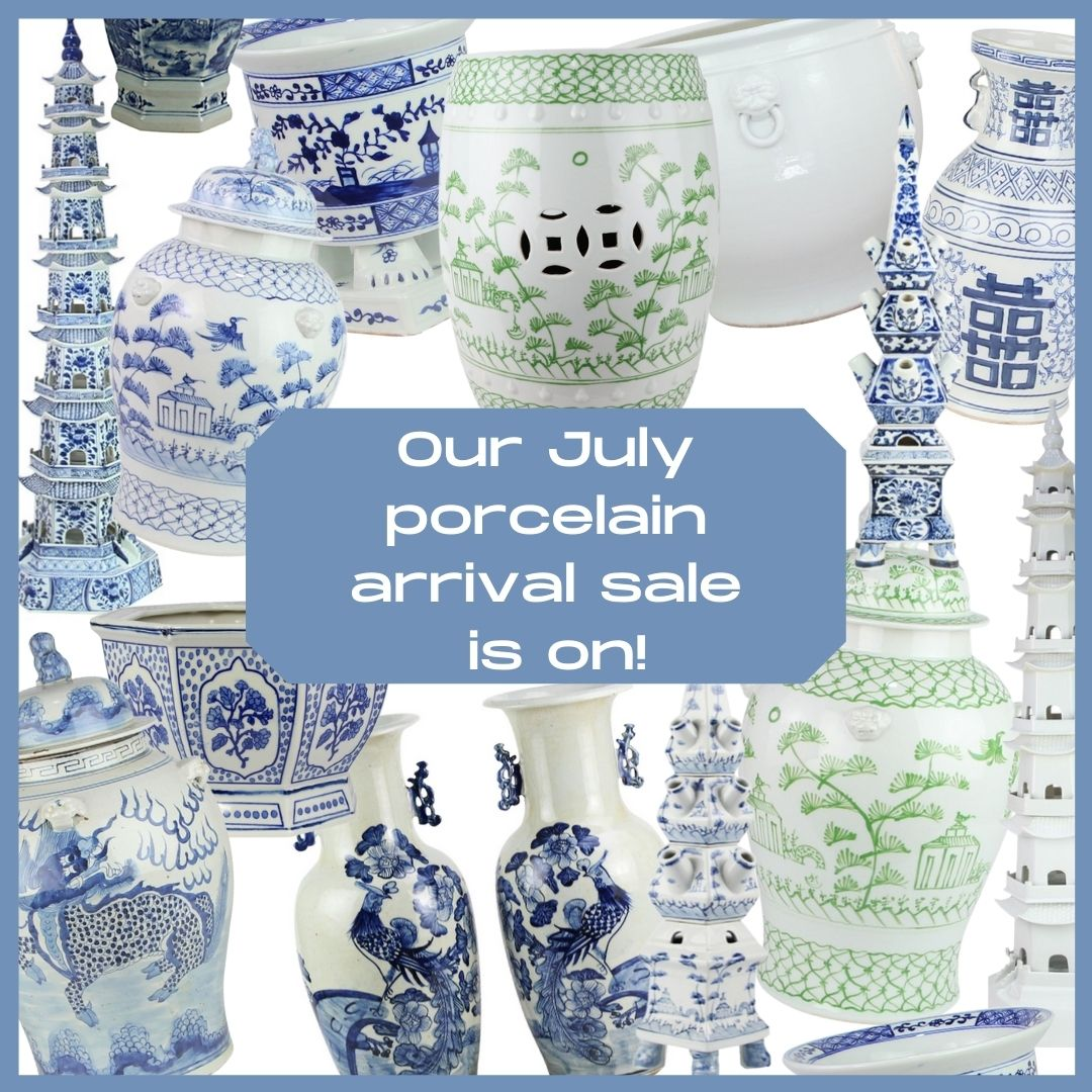 Our July porcelain arrival sale is on!