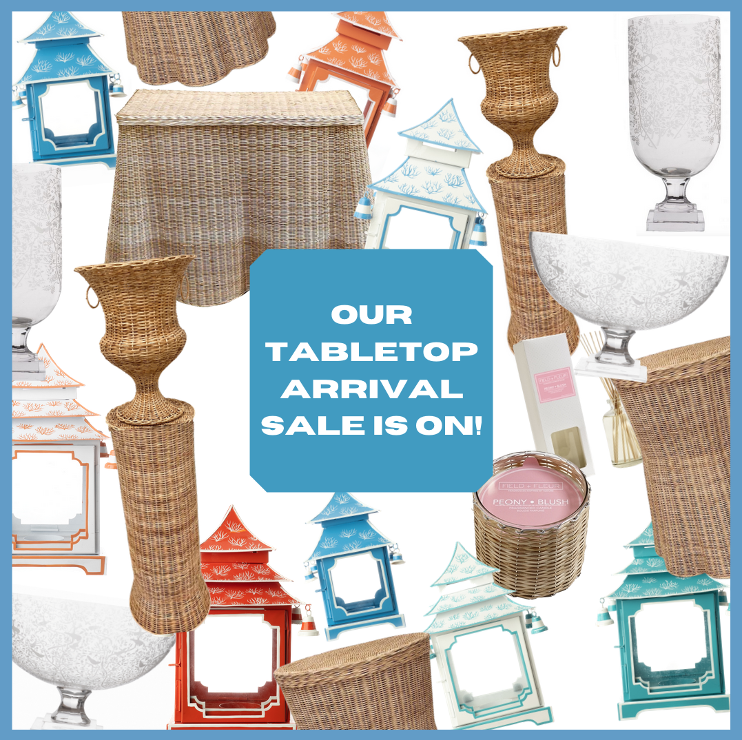 Our incredible tabletop/accessories arrival sale is on!