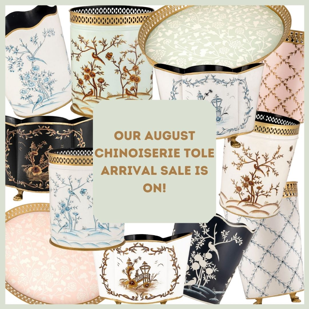Our late July chinoiserie tole presale is on