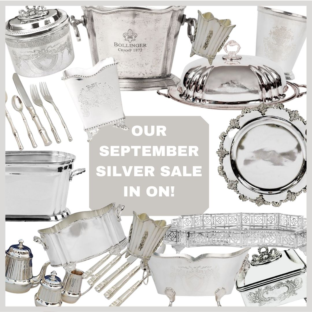 Our long awaited September silver sale is on and a giveaway!