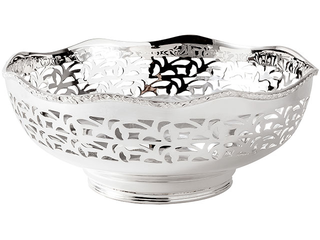 Silver Pierced Baskets Bowls Medium