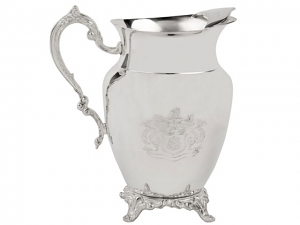Stunning Silver Etched Water Pitcher