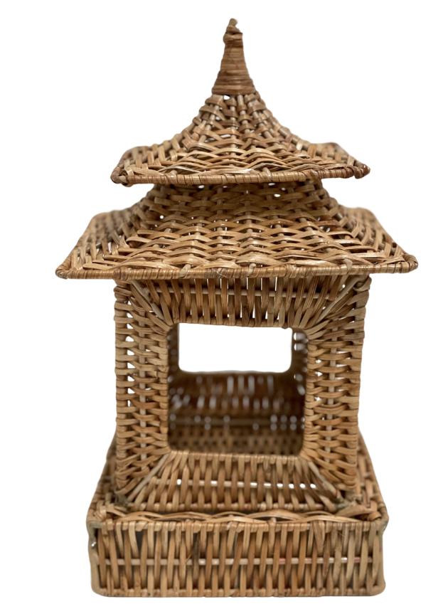 Fabulous small wicker pagoda