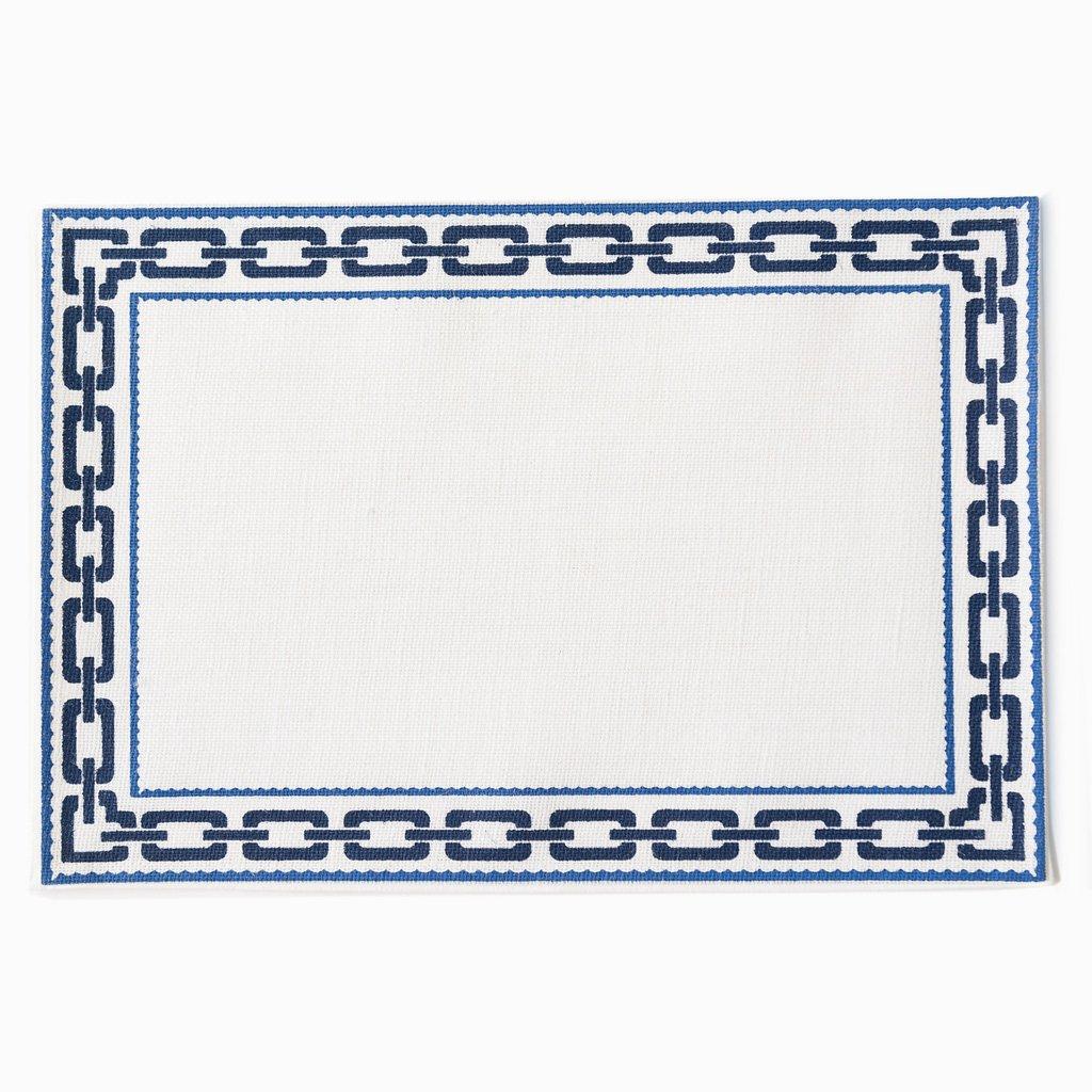 Gorgeous new blue/white jute rectangular placemats