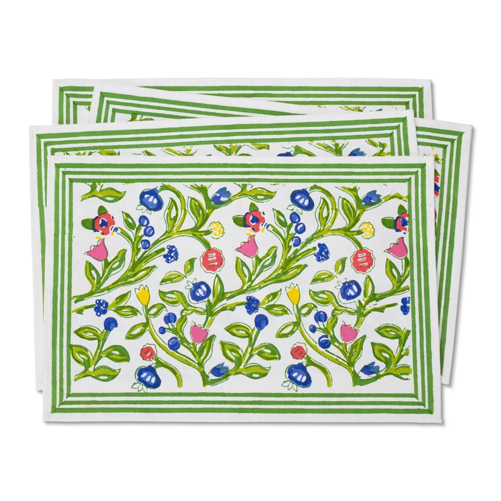 Beautiful new Emmy handblocked multi placemats