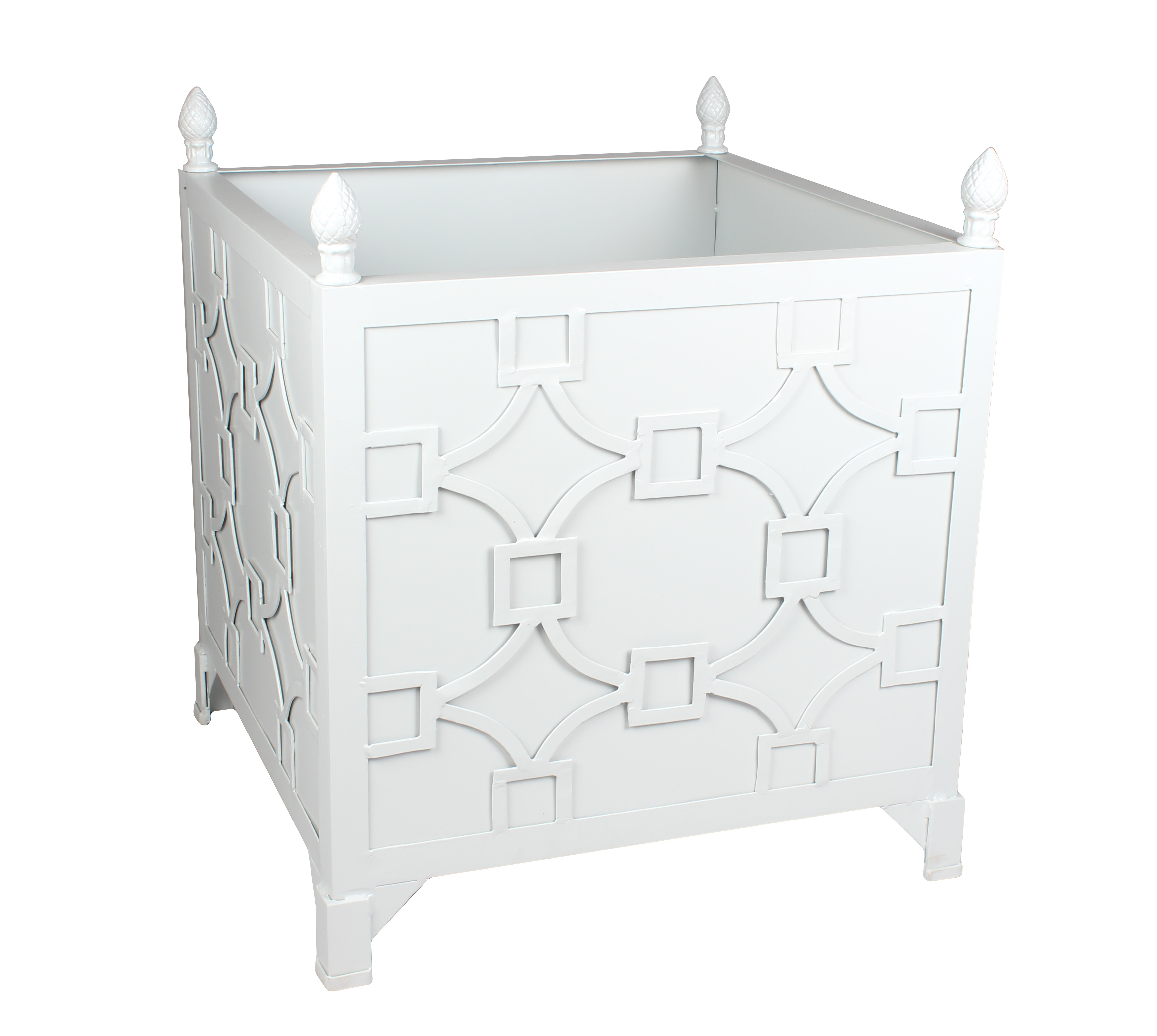 Fabulous new fretwork Provence planter - Pale Blue