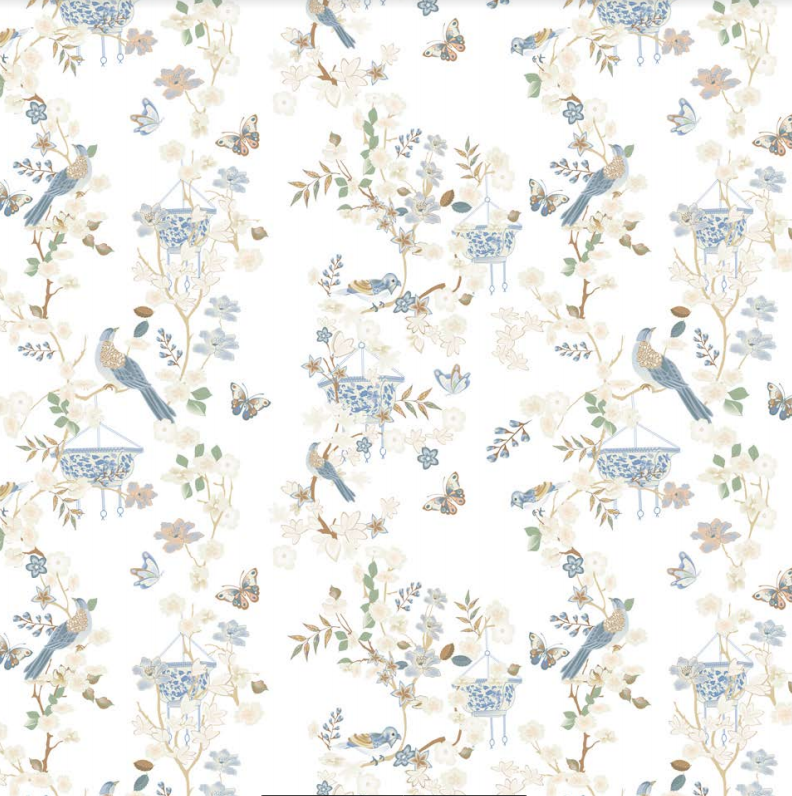Ivory Chinoiserie gift wrap