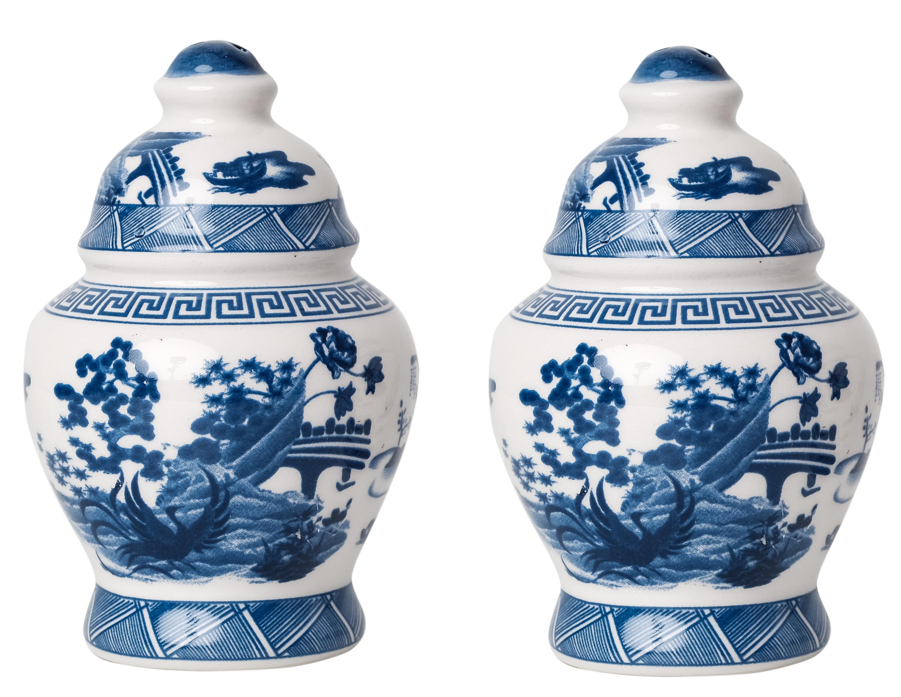 Porcelain Village Scene Salt and Pepper Shaker